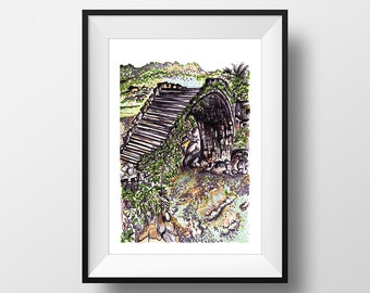 Thailand - illustration - giclee print