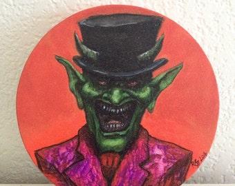 Green Devil acrylic painting