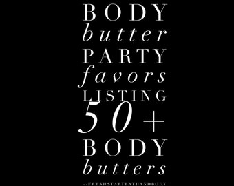 Body Butter, Party Favor, Party Favors, Body Butter Party Favor, Body Butter Party Favors