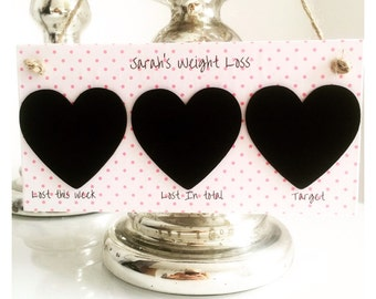 Personalised Weight Loss Slimming World, Weight Watchers Plaque Sign. (Chalk included)