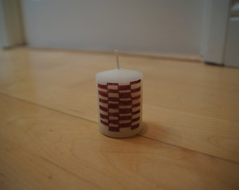 Red Checkered Candle