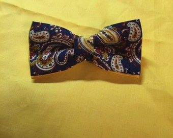 Custom Made Paisley Bow Tie