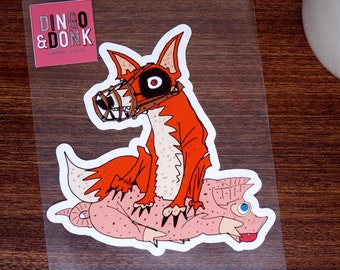 Fox and Swine Sticker Decal