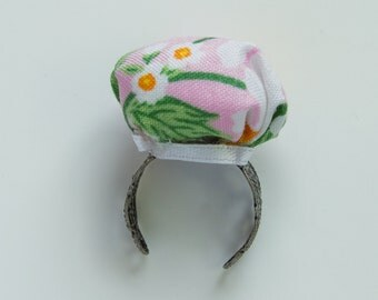 Daisy Print Pin Cushion Ring, Pincushion