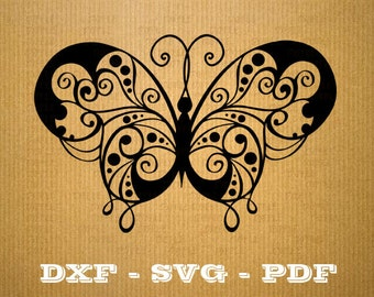 Butterfly SVG butterflies vector files for cricut, Butterblies cutting files, clipart animal, DXF files butterfly, silhouette butterfly, svg
