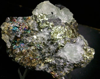 Chalcopyrite and 73 grams fluorite