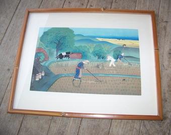 Vintage Signed Bakufu Ohno Woodblock Print