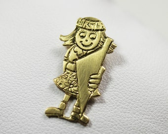 Pendant child girl Corsican gold