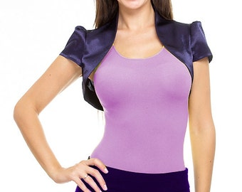 satin shrug  aubergine color