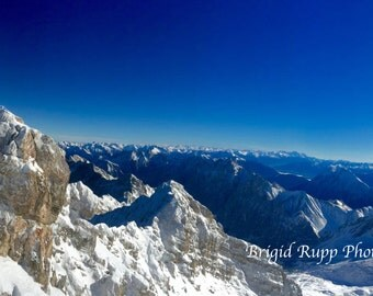 Alpine Splendor Photograph of Zigspite in Germany
