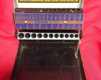 Drill Bit Index, Craftsman No. 6678 Made in U.S.A.