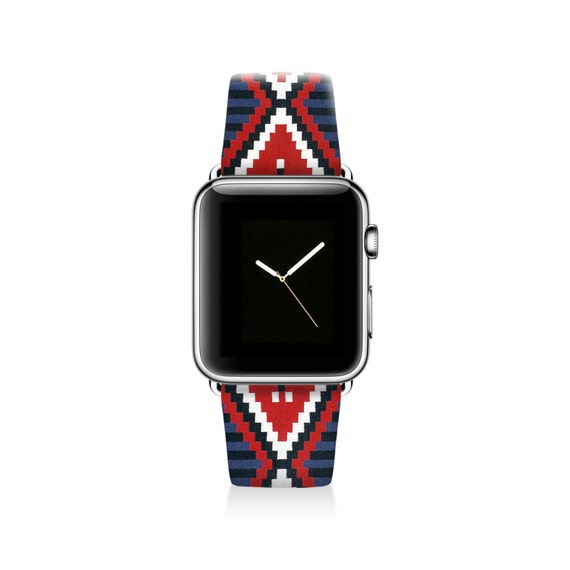 Aztec Apple watch band women Apple watch strap red by