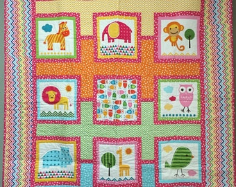 Happy Menagerie quilt