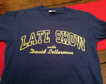 Late Night with David Letterman shirt -SM