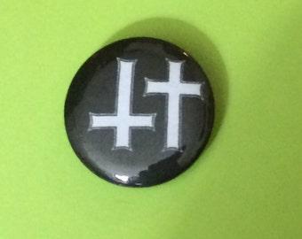 """1"""" Void Crosses Button"""