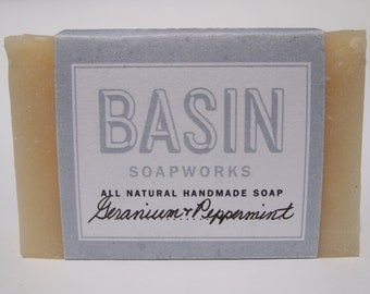 Geranium and Peppermint Handmade Soap