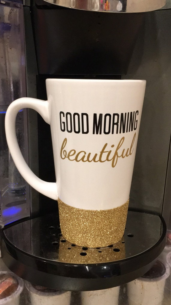 Good Morning Beautiful Personalized Latte by TheSparkleBazaar