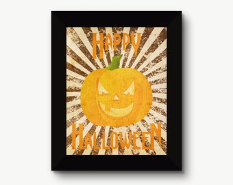 Happy Halloween Vintage Print