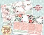 So Floral Weekly Kit Planner Stickers | Erin Condren Horizontal | Wreath | pattern | Pastel | ECLP