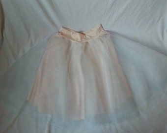 Pink and Blue Tulle Skirt for Young Girl