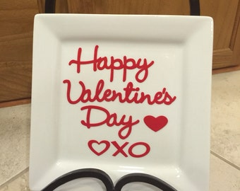 Valentine's Day Hugs and Kisses Plate