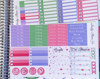 Spring Flowers / Big Kit / Perfect for the Erin Condren Life Planner!