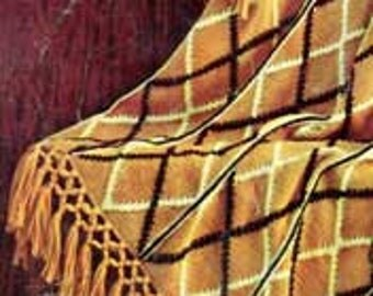 Custom Hand Made Plaid Blanket/Afghan