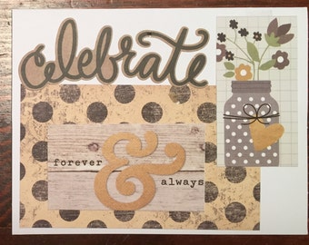 Celebrate Forever And Always Engagement/ Wedding Card