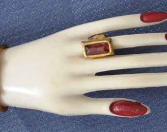 Vintage Brooch early plastic hand with moveable ring and bracelet circa 1940's