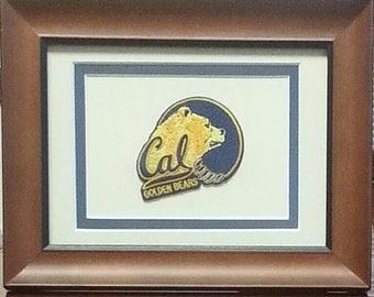 Cal Berkeley Golden Bears Framed Vintage Embroidered Patch