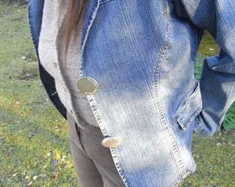 Italian design jeans jacket, 42,