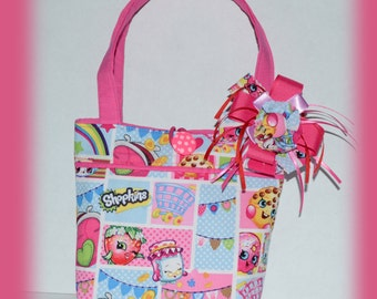 Girls Shopkins Bag, Shopkins Purse, Shopkins Tote Bag, Little Girls Purse, Shopkins, Girls Purse, Girls Bag, Kids Purse