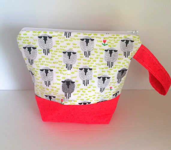 Zippered Knitting Bag : Knitting project bag zippered sock by