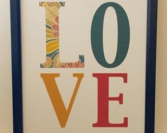 L O V E, love print