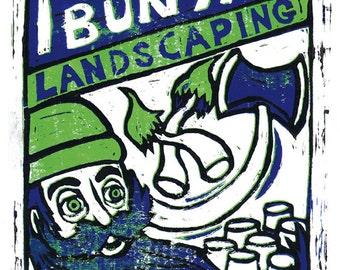 Paul Bunyan Landscaping Print