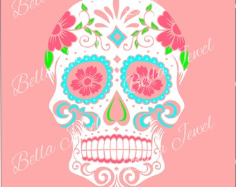 Sugar Skull SVG, sugar skull, svg, skull svg, svg files for cricut