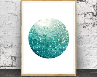 Sea Print, Sea Wall Art, Sea Photography, Sea art, Ocean Print, Ocean Art, Ocean Decor, Sea Decor,  Ocean Water,  Blue Aqua, Ocean Waves