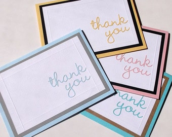 Thank You Card Set - Set of 4, Customized, Choice of Colour