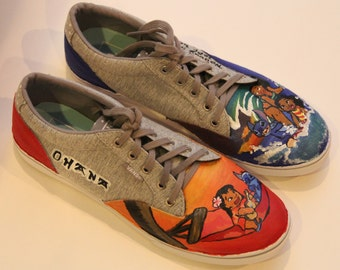 Hand-Painted Disney-Themed Shoes