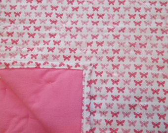 Pink Butterfly Baby Quilt