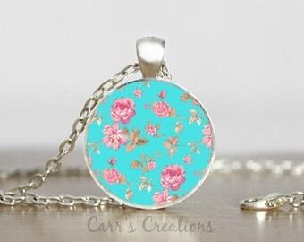 SALE!!! Flower pendant necklace