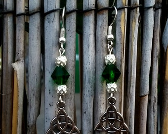 Triquetra/Celtic Knot earrings-Pagan-Wicca