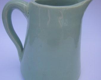 retro jug, soft green