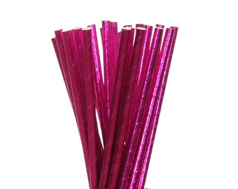 Paper Straws, Hot Pink Foil aper Straws, Glam Sweet 16 Party Paper Straw, Bacheloretty Party Supplies, Cheer Party Straws, Girls Night Out