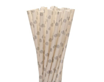 Paper Straws, Silver Heart Paper Straws, Silver Heart Valentines Party Decor, Silver Bling Engagement Party Straws, Glam Birthday Supplies