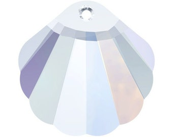 28mm Swarovski Shell AB 6723 Crystal Pendant - Loose