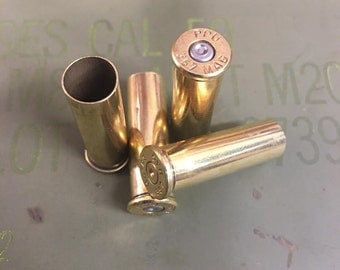 Bulk 357 Magnum Recycled Brass Bullet Casings - Cleaned & Polished - 100 Count Available - Reloading or Craft