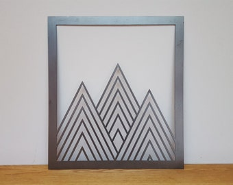 Triangle Mountains Metal Wall Art