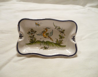 Ashtray Moustiers faience