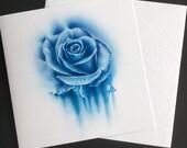 Blue rose watercolour sty...